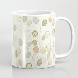 Honesty Flower Seed Heads in Pale Shades Coffee Mug