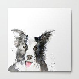 Inky Dog Metal Print