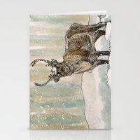 reindeer Stationery Cards featuring Reindeer by Meredith Mackworth-Praed