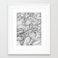 fabric Framed Art Prints featuring Fabric by DuckyB