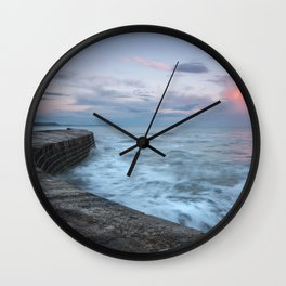 Sunset Over the Cobb Wall Clock
