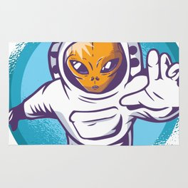 Alien Astronaut Rug