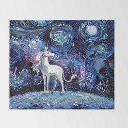 Last Unicorn Throw Blanket