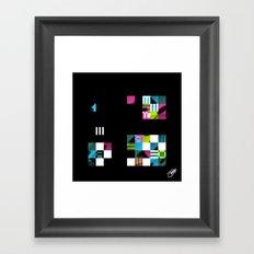 Something Other 3 On Black Framed Art Print