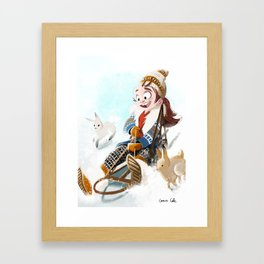 Sledding Framed Art Print
