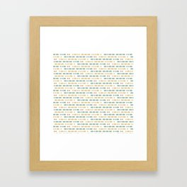 I Love You Morse Code Framed Art Print