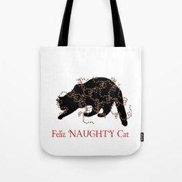 Feliz NAUGHTY Cat Tote Bag