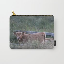 Higland Cow On The Lookout Carry-All Pouch