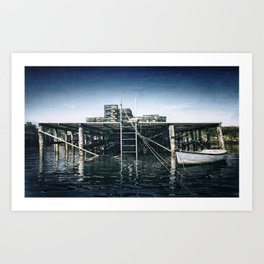 Harbor View, Corea, Maine Art Print