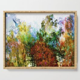 Colorful Birches Serving Tray