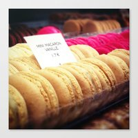 macaron Canvas Prints featuring Macaron by Emily Werboff