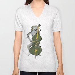 Lady Cellist Color Unisex V-Neck