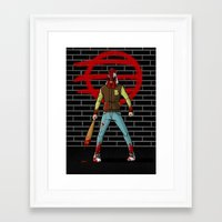 hotline miami Framed Art Prints featuring Hotline Miami by 100rings