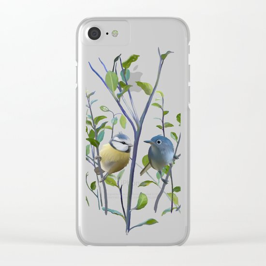2 birds in tree Clear iPhone Case