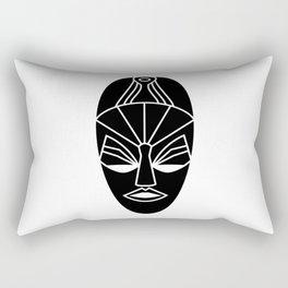 African black traditional tribal mask Rectangular Pillow