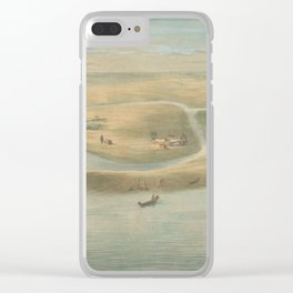Vintage Map of Chicago in 1820 Clear iPhone Case