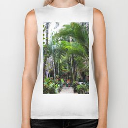 Dreamy Jungle Garden Biker Tank