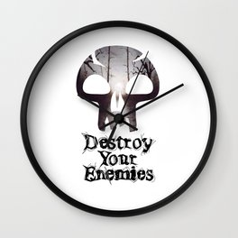 Destroy your Enemis Wall Clock
