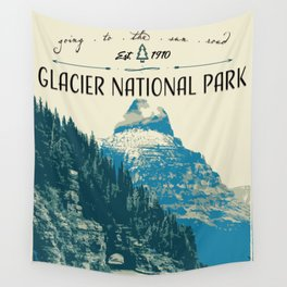 Glacier National Park - Going to the Sun Road Wall Tapestry