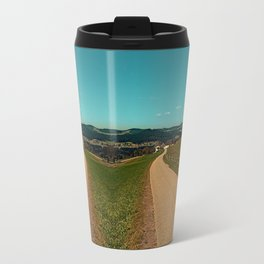 Country road into some autumn scenery | landscape photography Travel Mug