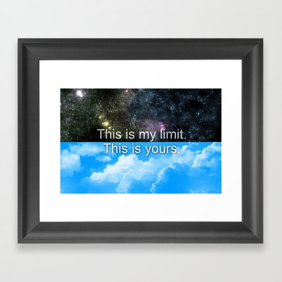 Know Your Limits Framed Art Print