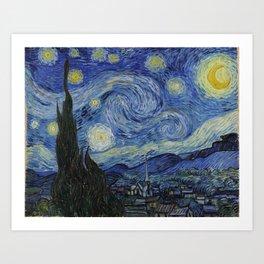 THE STARRY NIGHT - VAN GOGH Kunstdrucke