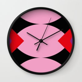 Strange mouth. Red Lips. Three... I said Three Tongues. Purple alien face. Or just a reflection? Wall Clock