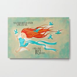 Cheerful Metal Print