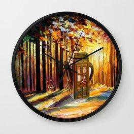 tardis tree Wall Clock