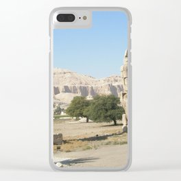 The Clossi of memnon at Luxor, Egypt, 2 Clear iPhone Case