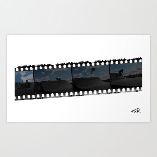 Bmx negative reel Art Print