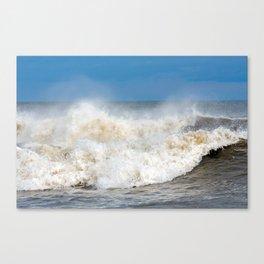 Seaham waves Canvas Print