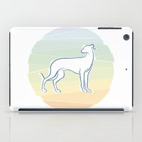 greyhound iPad Cases featuring Greyhound by tuditees
