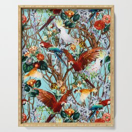 Floral and Birds XXX Serving Tray