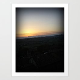 Vignale Sunset Art Print