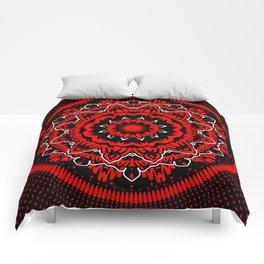 Mandala 009 Red White Black Comforters