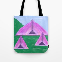 Yurt Tent Three Tote Bag