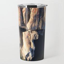 Abstract humanoid rock Travel Mug