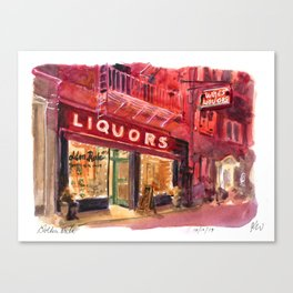 Golden Rule Wine and Liquors Canvas Print
