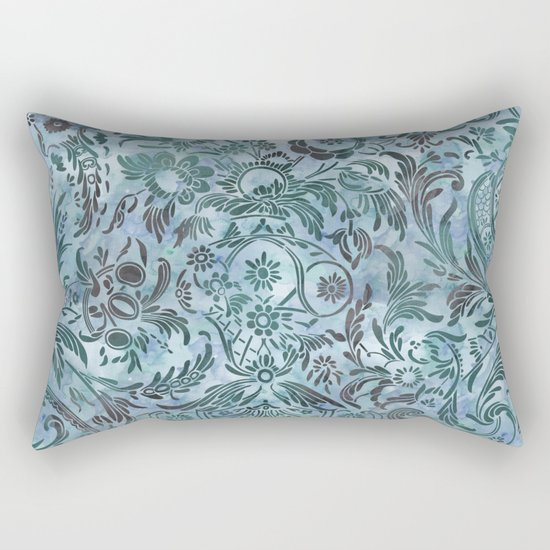 Watercolor Damask Pattern 08 Rectangular Pillow