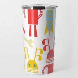 Robots pattern F4 Travel Mug