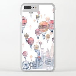 Voyages Over Santa Monica ~ Refresh Clear iPhone Case
