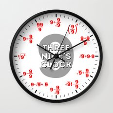 Three Nine's (for math geeks and nerds) Wall Clock
