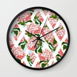vintage flower wall Wall Clock
