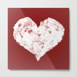 Feel in Watercolour: Red Metal Print