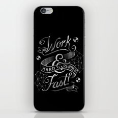 Work Hard & Render Fast! iPhone & iPod Skin