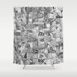 Doodling Together #1 Shower Curtain
