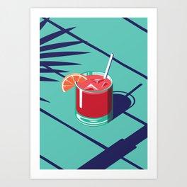 Summer Cocktail Series - Day Art Print