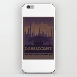 Coruscant planet movie poster design iPhone Skin