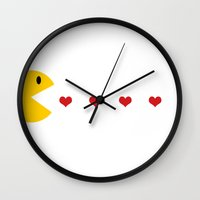 pacman Wall Clocks featuring Pacman by APO+